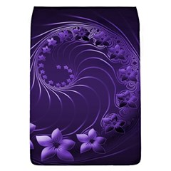 Dark Violet Abstract Flowers Removable Flap Cover (Large)