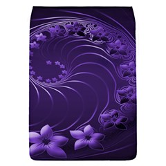 Dark Violet Abstract Flowers Removable Flap Cover (Small)