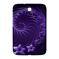 Dark Violet Abstract Flowers Samsung Galaxy Note 8 0 N5100 Hardshell Case