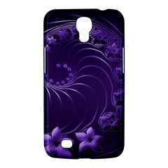Dark Violet Abstract Flowers Samsung Mega 6 3  I9200