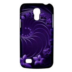 Dark Violet Abstract Flowers Samsung Galaxy S4 Mini Hardshell Case