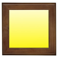 Cream To Cadmium Yellow Gradient Framed Ceramic Tile