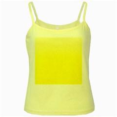 Cream To Cadmium Yellow Gradient Yellow Spaghetti Tank