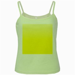 Cream To Cadmium Yellow Gradient Green Spaghetti Tank