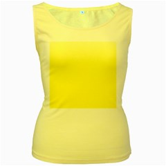 Cream To Cadmium Yellow Gradient Womens  Tank Top (Yellow)