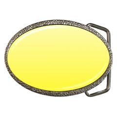 Cream To Cadmium Yellow Gradient Belt Buckle (Oval)
