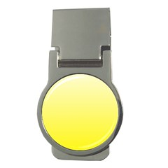 Cream To Cadmium Yellow Gradient Money Clip (Round)