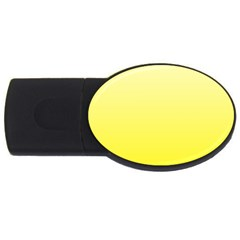 Cream To Cadmium Yellow Gradient 2GB USB Flash Drive (Oval)