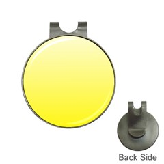 Cream To Cadmium Yellow Gradient Hat Clip with Golf Ball Marker