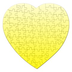 Cream To Cadmium Yellow Gradient Jigsaw Puzzle (Heart)