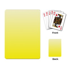 Cream To Cadmium Yellow Gradient Playing Cards Single Design