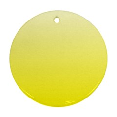 Cream To Cadmium Yellow Gradient Round Ornament (Two Sides)