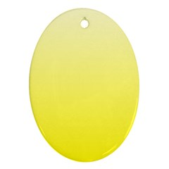 Cream To Cadmium Yellow Gradient Oval Ornament (Two Sides)