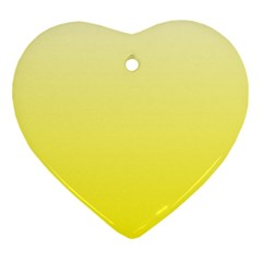 Cream To Cadmium Yellow Gradient Heart Ornament (two Sides)