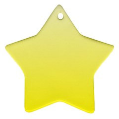 Cream To Cadmium Yellow Gradient Star Ornament (Two Sides)