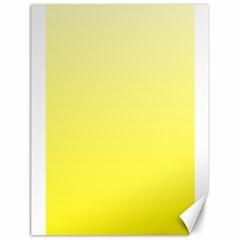 Cream To Cadmium Yellow Gradient Canvas 18  X 24  (unframed)