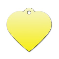 Cream To Cadmium Yellow Gradient Dog Tag Heart (Two Sided)