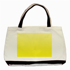 Cream To Cadmium Yellow Gradient Twin-sided Black Tote Bag