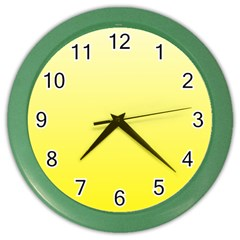 Cream To Cadmium Yellow Gradient Wall Clock (Color)