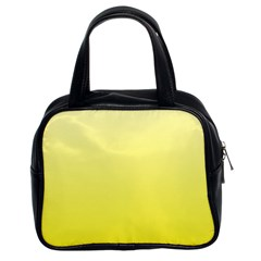 Cream To Cadmium Yellow Gradient Classic Handbag (two Sides)