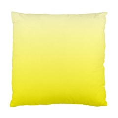 Cream To Cadmium Yellow Gradient Cushion Case (one Side)