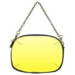 Cream To Cadmium Yellow Gradient Chain Purse (two Side)