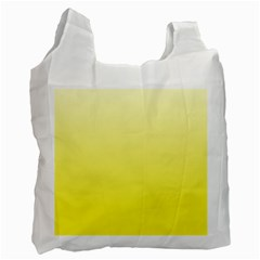 Cream To Cadmium Yellow Gradient Recycle Bag (Two Sides)