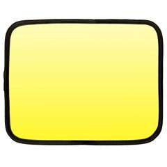 Cream To Cadmium Yellow Gradient Netbook Case (XL)