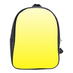 Cream To Cadmium Yellow Gradient School Bag (large)