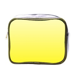 Cream To Cadmium Yellow Gradient Mini Travel Toiletry Bag (One Side)