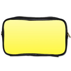 Cream To Cadmium Yellow Gradient Travel Toiletry Bag (Two Sides)