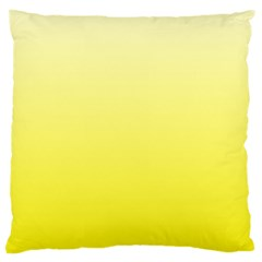 Cream To Cadmium Yellow Gradient Large Cushion Case (Two Sides)