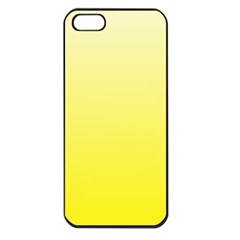 Cream To Cadmium Yellow Gradient Apple iPhone 5 Seamless Case (Black)