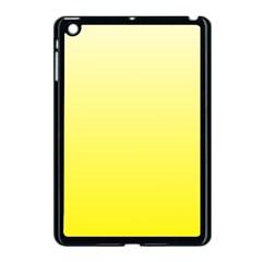 Cream To Cadmium Yellow Gradient Apple iPad Mini Case (Black)