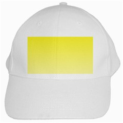 Cadmium Yellow To Cream Gradient White Baseball Cap