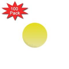 Cadmium Yellow To Cream Gradient 1  Mini Button (100 pack)