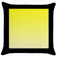 Cadmium Yellow To Cream Gradient Black Throw Pillow Case