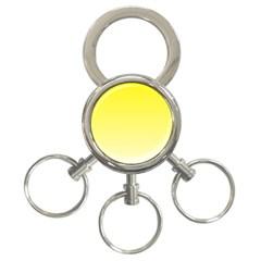 Cadmium Yellow To Cream Gradient 3-Ring Key Chain