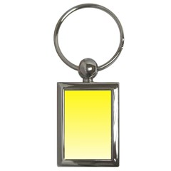Cadmium Yellow To Cream Gradient Key Chain (Rectangle)