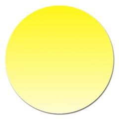 Cadmium Yellow To Cream Gradient Magnet 5  (Round)