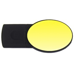 Cadmium Yellow To Cream Gradient 2gb Usb Flash Drive (oval)