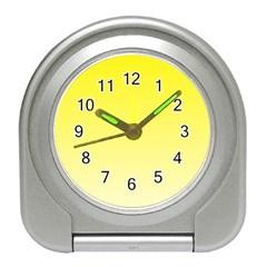 Cadmium Yellow To Cream Gradient Desk Alarm Clock