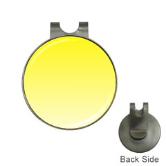 Cadmium Yellow To Cream Gradient Hat Clip With Golf Ball Marker