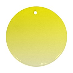 Cadmium Yellow To Cream Gradient Round Ornament (Two Sides)