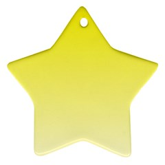 Cadmium Yellow To Cream Gradient Star Ornament (two Sides)