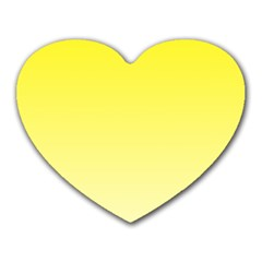 Cadmium Yellow To Cream Gradient Mouse Pad (Heart)