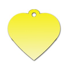 Cadmium Yellow To Cream Gradient Dog Tag Heart (Two Sided)