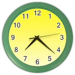 Cadmium Yellow To Cream Gradient Wall Clock (Color)