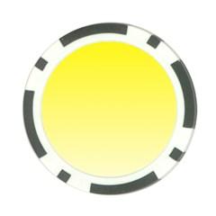 Cadmium Yellow To Cream Gradient Poker Chip