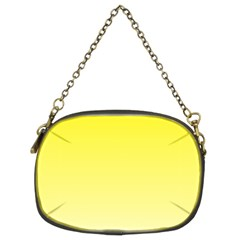 Cadmium Yellow To Cream Gradient Chain Purse (Two Side)